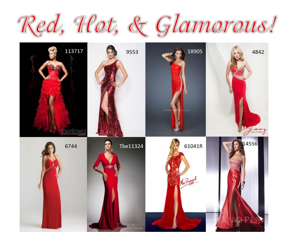 Red Designer Gowns
