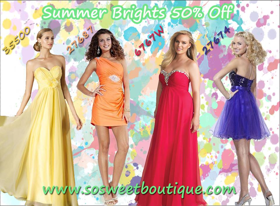 colorful evening gowns